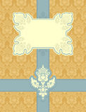 Luxury vintage frame template. Old Royal pattern. A decorative r Stock Photo