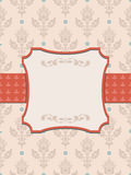 Luxury vintage frame template. Old Royal pattern. A decorative r Royalty Free Stock Photography
