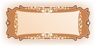 Luxury vintage frame template for post card Royalty Free Stock Photos