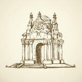 Luxury vintage gazebo. Vector drawing Stock Images
