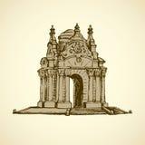 Luxury vintage gazebo. Vector drawing Royalty Free Stock Image