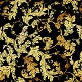 Luxury vintage golden seamless background Stock Image