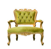 Luxury vintage green couch isolated Royalty Free Stock Photography