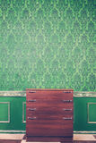 Luxury vintage interior with rococo pattern background Royalty Free Stock Photography