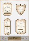 Luxury vintage label set Royalty Free Stock Photos