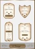 Luxury vintage label set Royalty Free Stock Photos