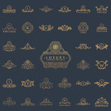 Luxury vintage logos set. Calligraphic emblems and elements Stock Photography