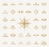 Luxury vintage logos set. Calligraphic emblems and elements Royalty Free Stock Photo
