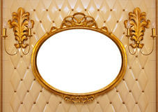 Luxury vintage mirror isolated inside Stock Image