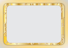 Luxury vintage style in gold gradient frame | Vector design for web and print artworks Royalty Free Stock Photo