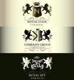 Luxury vintage templates logotype collection business sign ident Stock Photo