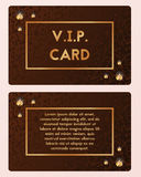 Luxury visiting card vector illustration. VIP cutaway with gemstone. Luxury business, visit, visiting card vector illustration. VIP cutaway with expensive Stock Photography