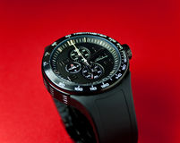 Luxury watch. With sillicone strap (shallow DOF Stock Image
