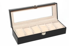Luxury watch box on white background.  Royalty Free Stock Photo