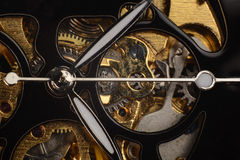 Luxury watch part. Swiss made. Royalty Free Stock Image