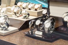 Luxury Watches For Sale In Shop Window Display Royalty Free Stock Photo