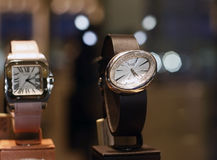 Luxury watches store Stock Photos