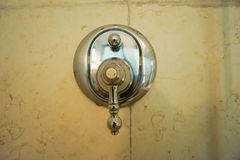 Luxury water faucet in the hotel bathroom Royalty Free Stock Image