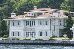 Luxury water front villa on river Royalty Free Stock Photo
