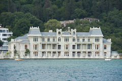 Luxury water front villaon river Royalty Free Stock Images