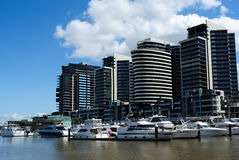 Luxury waterfront apartments Stock Photography