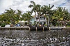 Luxury waterfront apartments Royalty Free Stock Photo