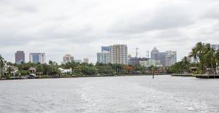 Luxury waterfront apartments Stock Photos