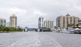 Luxury waterfront apartments Royalty Free Stock Photography
