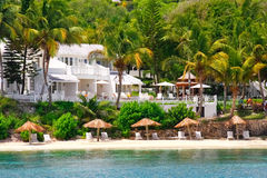 Luxury waterfront condo resort on Antigua Royalty Free Stock Photos