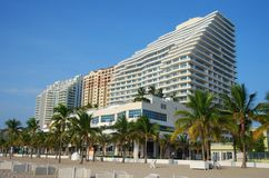 Luxury waterfront condominiums Stock Photos