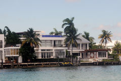 Luxury waterfront home Stock Images