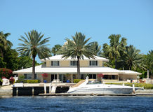 Luxury waterfront home Royalty Free Stock Images