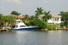 Luxury waterfront home Royalty Free Stock Image