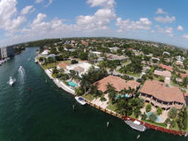 Luxury waterfront homes Stock Photography
