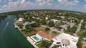 Luxury waterfront homes Florida stock video footage