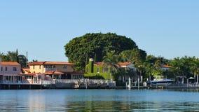 Luxury waterfront homes 4k stock footage