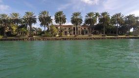 Luxury waterfront homes Miami Beach 4k stock video