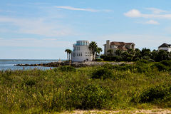 Luxury Waterfront homes on Sullivan Island, SC. Stock Image