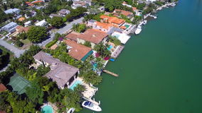 Luxury waterfront mansions in Miami stock video