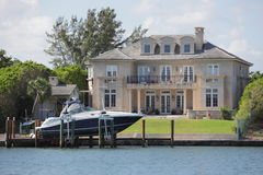 Luxury waterfront property Stock Photography