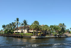 Luxury waterfront real estate Royalty Free Stock Photography