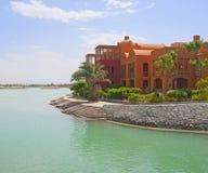 Luxury Waterfront Residence Stock Photos