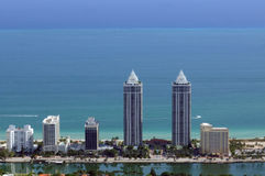 Luxury waterfront towers Stock Images