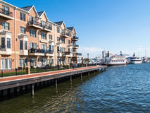 Luxury Waterfront Townhouses Stock Images