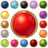 Luxury web circle button color Royalty Free Stock Photography