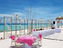 Luxury wedding on a beach Stock Images