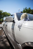 Luxury wedding car Stock Image