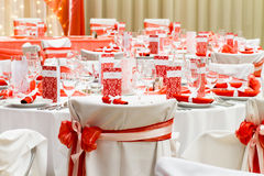 Luxury wedding decoration Stock Image