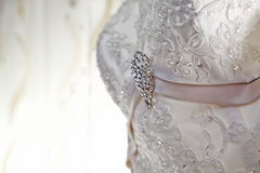 Luxury wedding dress with nice jewelry Stock Photography