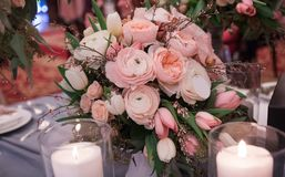 Luxury wedding flowers and decor Royalty Free Stock Photo